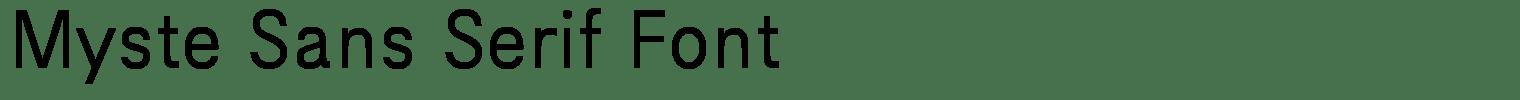Myste Sans Serif Font
