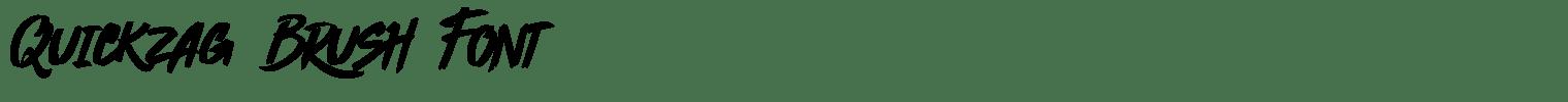 Quickzag Brush Font