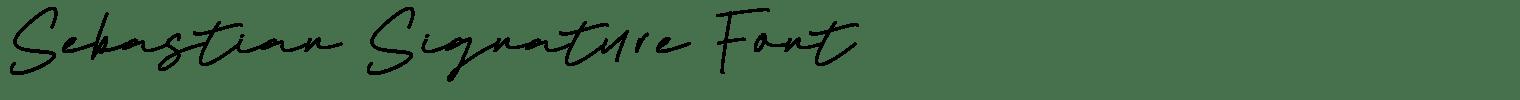 Sebastian Signature Font