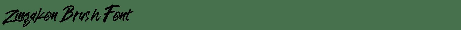Zingakon Brush Font