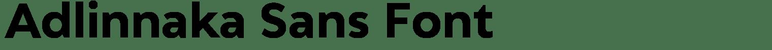 Adlinnaka Sans Font