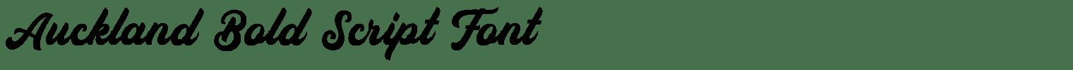 Auckland Bold Script Font