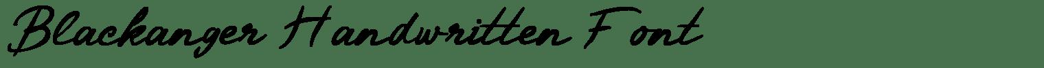 Blackanger Handwritten Font