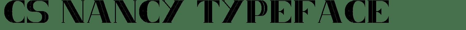 CS Nancy Typeface
