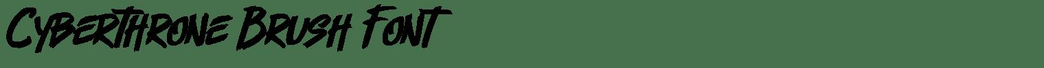 Cyberthrone Brush Font