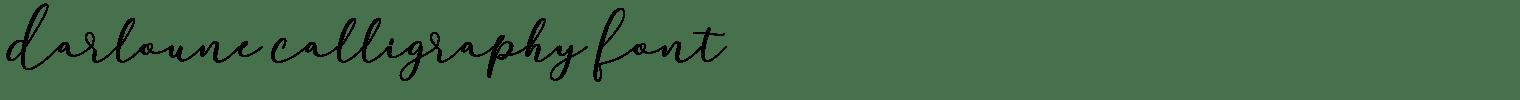 Darloune Calligraphy Font