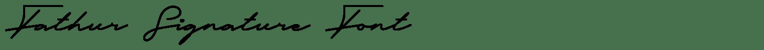 Fathur Signature Font