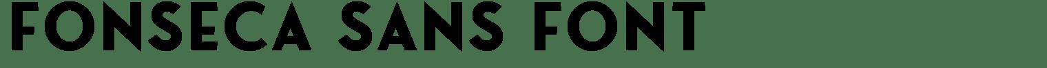Fonseca Sans Font