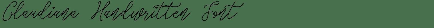 Glaudiana Handwritten Font