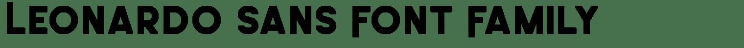 Leonardo Sans Font Family