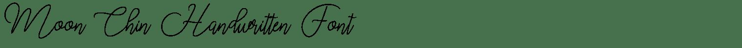 Moon Chin Handwritten Font