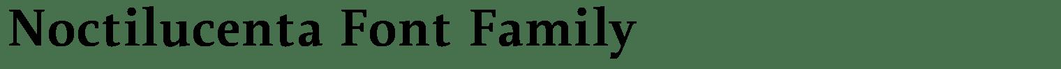 Noctilucenta Font Family