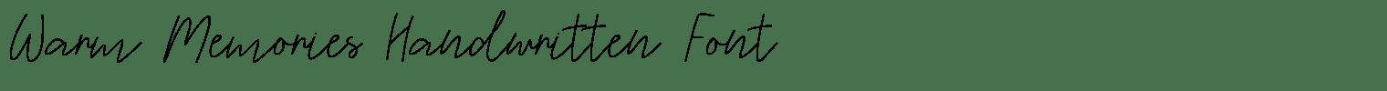 Warm Memories Handwritten Font