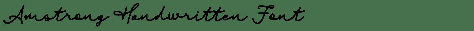 Amstrong Handwritten Font