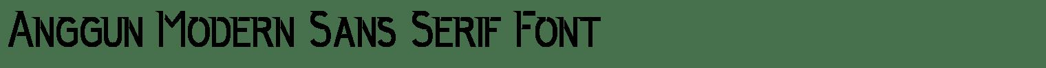 Anggun Modern Sans Serif Font