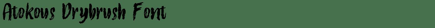 Atokous Drybrush Font