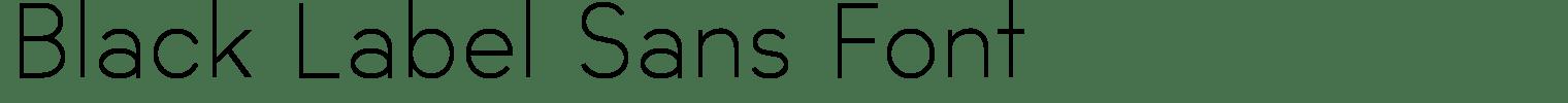 Black Label Sans Font