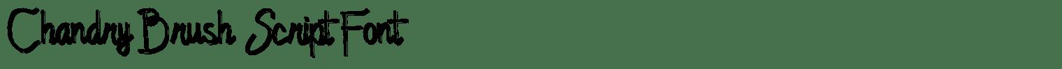 Chandry Brush Script Font