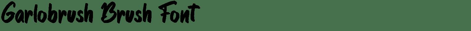 Garlobrush Brush Font