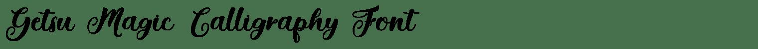 Getsu Magic Calligraphy Font