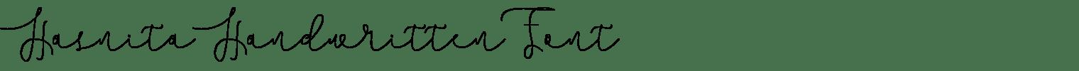 Hasnita Handwritten Font