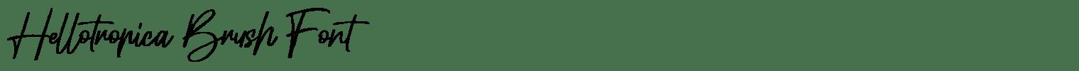 Hellotropica Brush Font