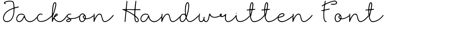 Jackson Handwritten Font
