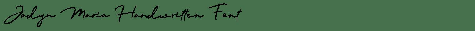 Jadyn Maria Handwritten Font