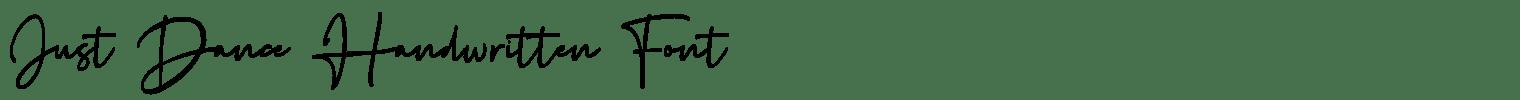 Just Dance Handwritten Font