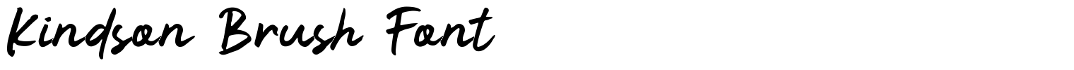 Kindson Brush Font