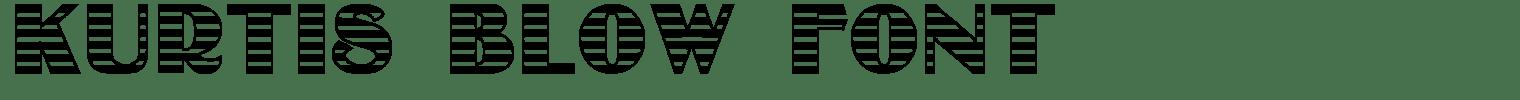 Kurtis Blow Font