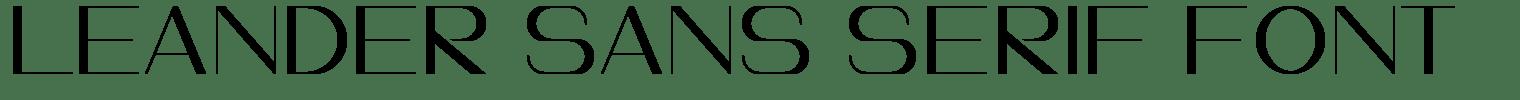 Leander Sans Serif Font