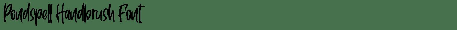 Pondspell Handbrush Font