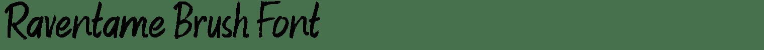 Raventame Brush Font