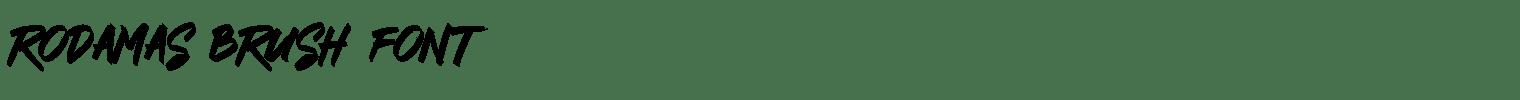 Rodamas Brush Font