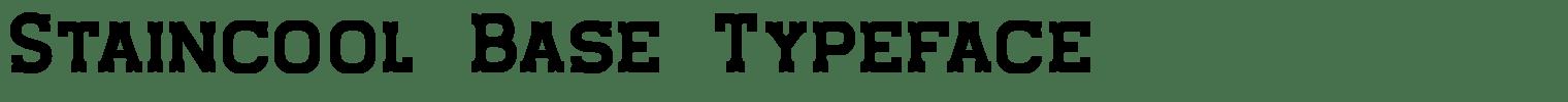 Staincool Base Typeface