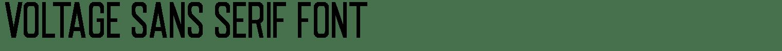 Voltage Sans Serif Font