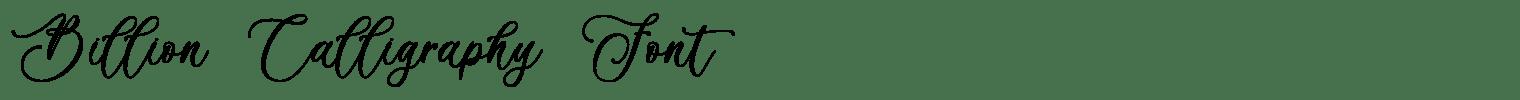 Billion Calligraphy Font