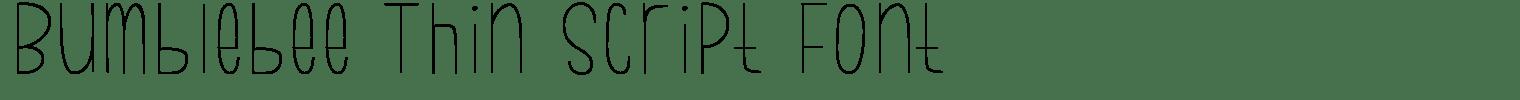 Bumblebee Thin Script Font