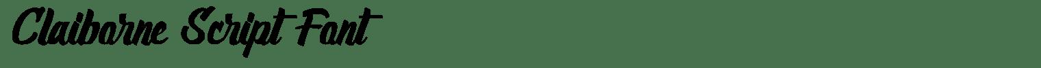 Claiborne Script Font