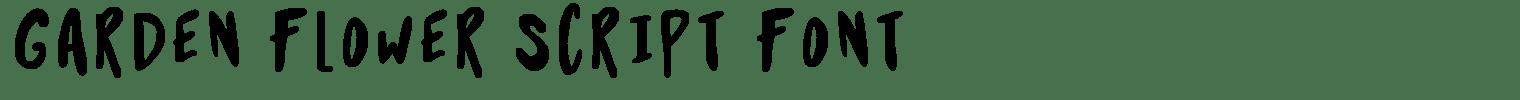 Garden Flower Script Font