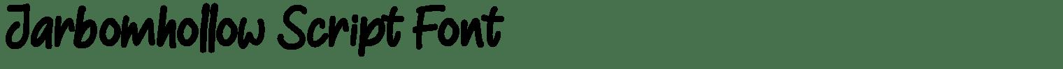 Jarbomhollow Script Font