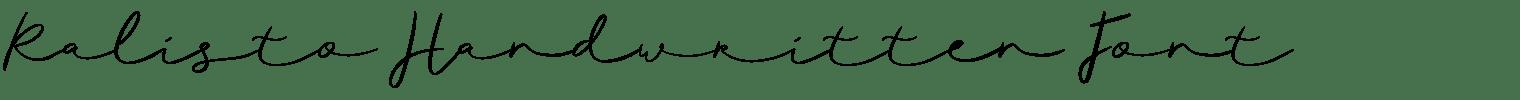 Ralisto Handwritten Font
