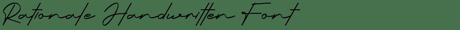 Rationale Handwritten Font