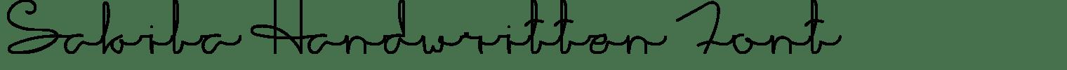 Sakila Handwritten Font