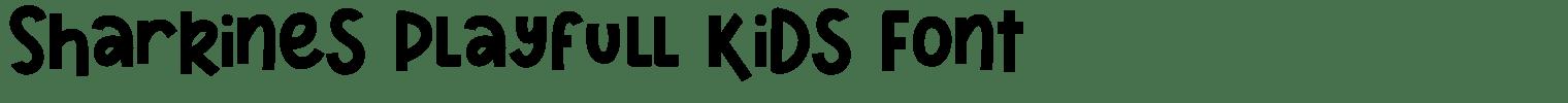 Sharkines Playfull Kids Font