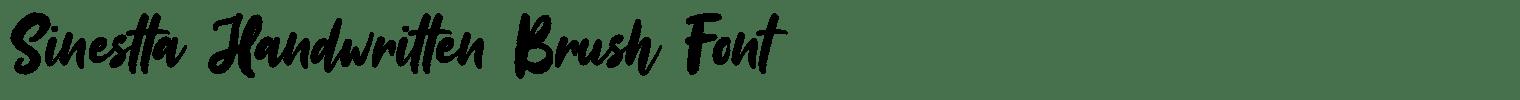 Sinestta Handwritten Brush Font