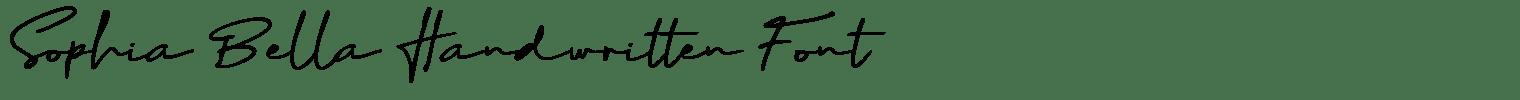 Sophia Bella Handwritten Font