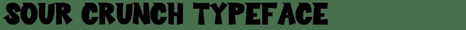 Sour Crunch Typeface