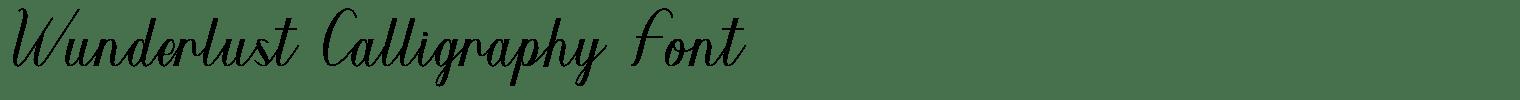 Wunderlust Calligraphy Font